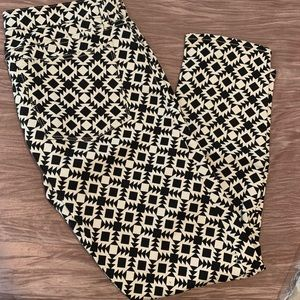 Graphic Print Cropped Jeans